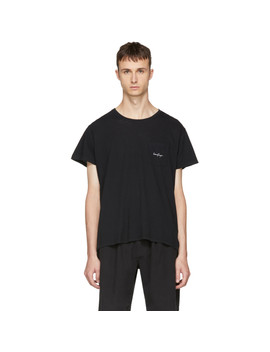 Black Logo Pocket T Shirt by Second/Layer
