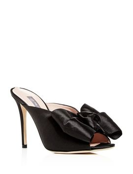 Women's Vesper Satin Bow High Heel Slide Sandals by Sjp By Sarah Jessica Parker
