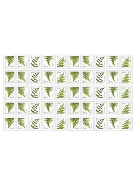 Ferns 5 Strips Of 10 Usps Forever Postage Stamps Featuring 5 Different Designs Of Ferns (50 Stamps) by Usps