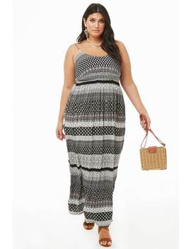 Plus Size Ornate Cami Maxi Dress by Forever 21
