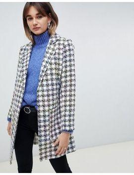 Asos Design Slim Boucle Coat by Asos Design