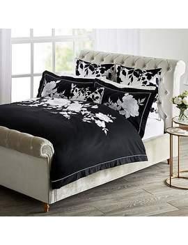 Dorma Allura Black Bed Linen Collection by Dunelm
