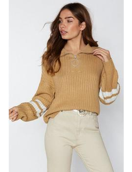 Bring The Energy O Ring Zip Sweater by Nasty Gal