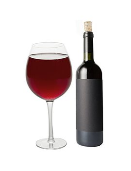 Oversized Extra Large Giant Wine Glass  33.5 Oz   Holds A Full Bottle Of Wine! by Scs Direct