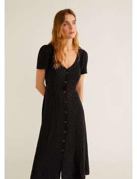 Sukienka żakardowa W Grochy by Mango
