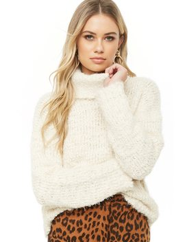 Fuzzy Turtleneck Sweater by Forever 21