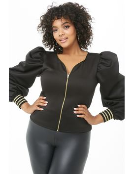 Plus Size Puff Sleeve Top by Forever 21