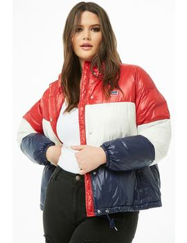 Plus Size Levis Puffer Jacket by Forever 21