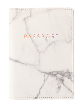 Marble Print Vegan Leather Passport Case by Eccolo