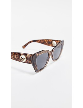 Logo Narrow Cat Eye Sunglasses by Fendi