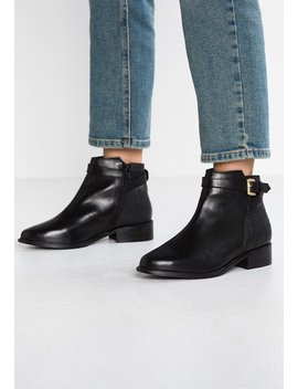 Wide Fit Poppy   Classic Ankle Boots by Dune London Wide Fit