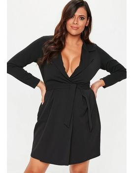 Plus Size Black Collar Shift Dress by Missguided