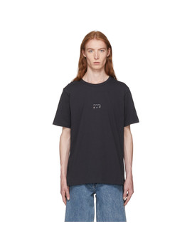 Black Good Water Embroidery New Box T Shirt by Our Legacy