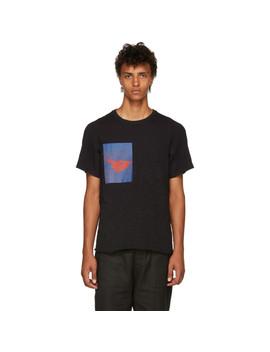 Black Limited Edition Crimson Arc T Shirt by Abasi Rosborough