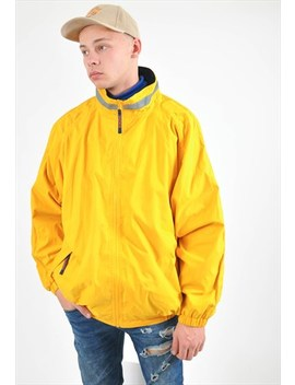 Vintage Lined Windbreaker Jacket In Yellow by Goose Goose
