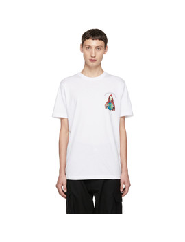 White 'nothingness' T Shirt by Sss World Corp