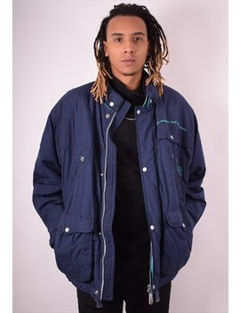 Ellesse Mens Vintage Windbreaker Jacket Xxl Blue 90s by Ellesse