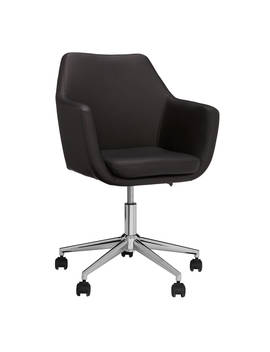 John Lewis & Partners Reid Faux Leather Office Chair, Black by John Lewis & Partners