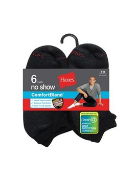 Men's Cushion Fresh Iq No Show Socks 6 Pack by Hanes