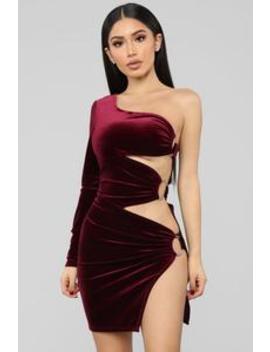 Oh Me Oh My Velvet Mini Dress   Burgundy by Fashion Nova