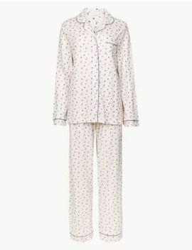 Modal Blend Floral Print Pyjama Set by Marks & Spencer