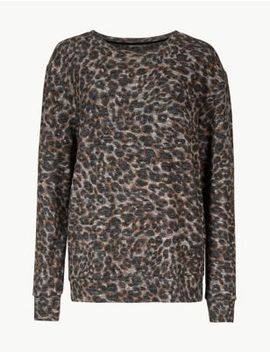 Animal Print Long Sleeve Lounge Top by Marks & Spencer