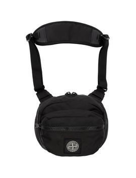 Black Logo Bum Bag by Stone Island