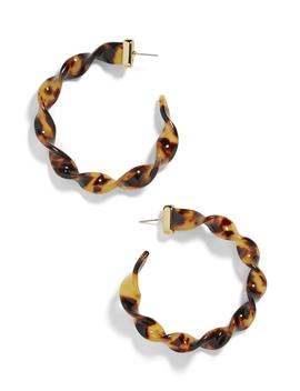 X Micaela Erlanger Weekend Warrior Resin Hoop Earrings by Baublebar