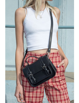Black Buckle Handbag by Brandy Melville