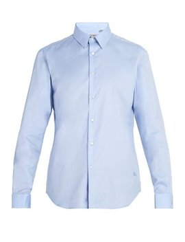 Double Cuff Oxford Cotton Shirt by Burberry