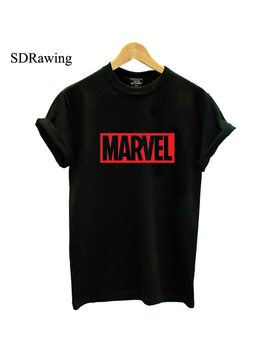 New 2018 Marvel T Shirt Woman Cotton Short Sleeves Casual Male Tshirt Marvel Shirts Tops Graphic Tees  Plus Size by Sd Rawing