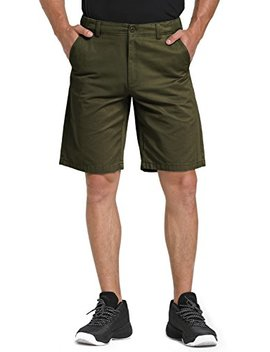 Wen Ven Men's 10 Inch Flat Front Chino Shorts by Wen Ven