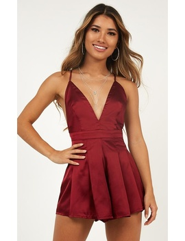 Never Be The Same Playsuit In Wine by Showpo Fashion