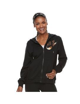 Women's Nike Sportswear Full Zip Metallic Hoodie by Kohl's