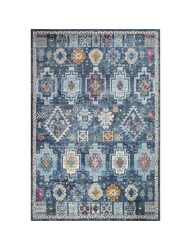 Bungalow Rose Fidela Navy Area Rug & Reviews by Bungalow Rose