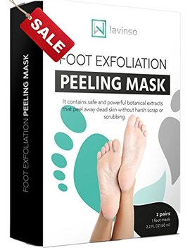 Foot Peel Mask 2 Pack, Peeling Away Calluses And Dead Skin Cells, Make Your Feet Baby Soft, Exfoliating Foot Mask, Repair Rough Heels, Get Silky Soft Feet By Lavinso by Lavinso