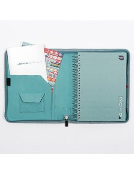 Boxclever Press 2019 Life Book Diary In A Faux Leather Cover. Full Year A5 Week To View Diary Organiser With Large Spaces For Each Day. Starts Now And Runs Until December 2019. (Fountain Blue) by Boxclever Press