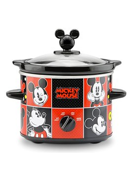 Disney Dcm 200 Cn Mickey Mouse Slow Cooker, 2 Quart, Red/Black by Disney