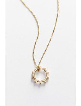 Luv Aj Bezel Pearl Pendant Necklace by Luv Aj