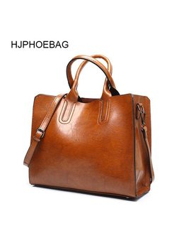 Hjphoebag Leather Luxury Handbags Women Bags Lady Large Tote Bag Female Pu Shoulder Bag Women Messenger Bag Bolsa Feminina Yc001 by Hjphoebag