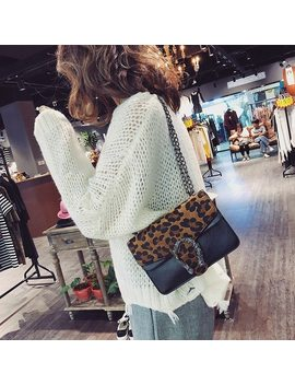 Fashion Leopard Bags Handbags Women Famous Brands Crossbody Designer Bags Famous Brand Women Bags 2018 Chains Ladies Handbags by Voulon
