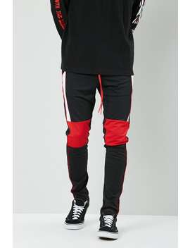 Slim Fit Colorblock Track Pants by Forever 21