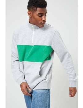 Colorblock Pull Ring Fleece Pullover by Forever 21