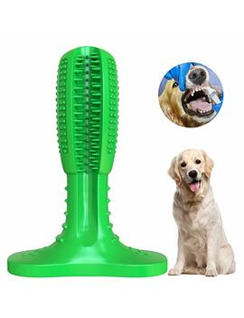 Wisedom Dog Toothbrush Stick Puppy Dental Care Brushing Stick Effective Doggy Teeth Cleaning Massager Nontoxic Natural Rubber Bite Resistant Chew Toys For Dogs Pets by Wisedom