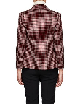 Houndstooth Wool Blend Three Button Jacket by Chloé