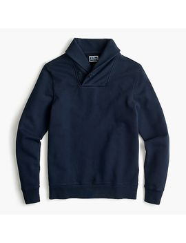 French Terry Shawl Collar Pullover Sweatshirt by J.Crew