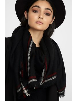 Knit Two Tone Scarf by Urban Planet