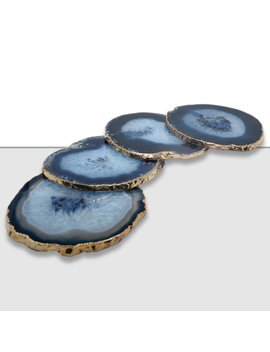 Mercer41 Agate Coaster With Gold Trim by Mercer41