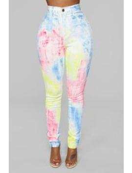 Live In The Moment Skinny Jeans   Rainbow by Fashion Nova