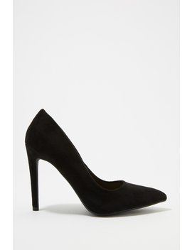 Faux Suede Pointed Stiletto Heel by Urban Planet